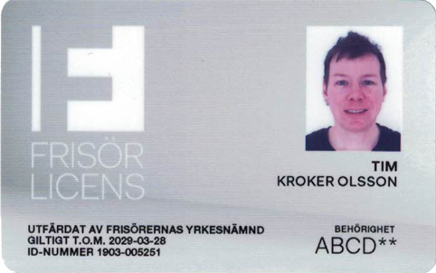 Tim Kroker Olssons Frisörlicens