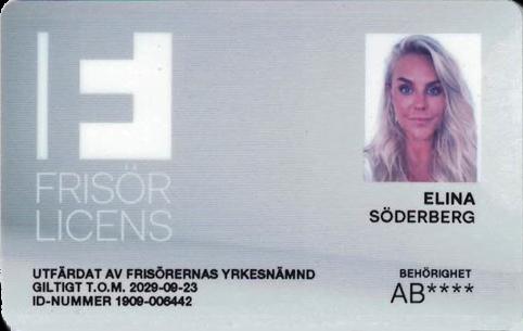 Elina Söderbergs Frisörlicens